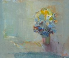 "Ronald Smith RGI    ""Flowers""   Oil on Board  25 x 30    �00"