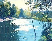 "Helen Turner  ""Sparkling Water, River Ayr""    Oil on Canvas  22 x 38   �900"